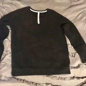 Lululemon Black Sweatshirt with Polka Dot Details